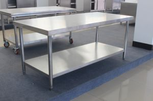 Good Selling Stainless Steel Kitchen Work Tables with Under Shelf pictures & photos
