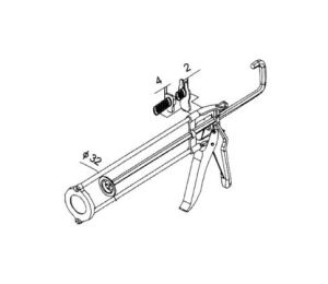 300ml Skeleton Caulk Gun Hand Tools pictures & photos