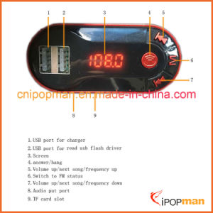 Car Bluetooth Handsfree Transmitter Car MP3 FM Transmitter with Bluetooth pictures & photos