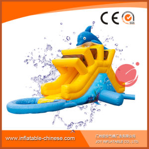 Inflatable Dolphin Water Slide with Pool for Kids T11-111 pictures & photos