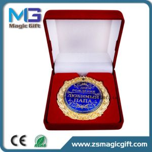 High Quality Award Souvenir Medal with Velvet Box Packing pictures & photos