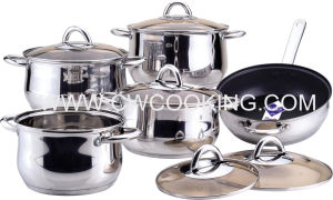 11PCS Stainless Steel Cookware with Ss Wire Handle pictures & photos