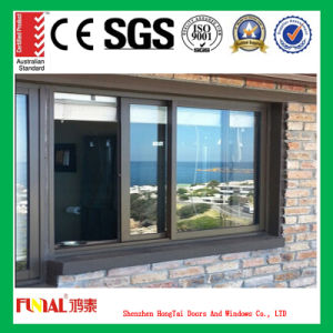 High Quality Aluminum Sliding Window with Customized Glass pictures & photos