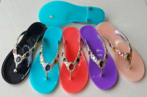 Lady Jelly Shantou PVC Women Sandal pictures & photos