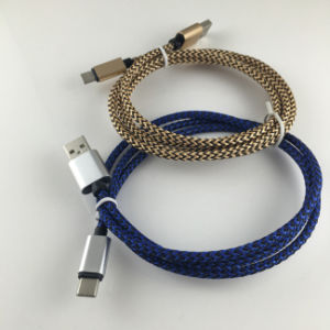 1m/2m/3m Braid Type C USB Cable for MacBook Air pictures & photos