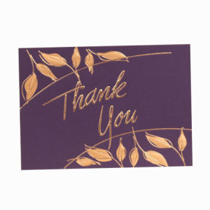 Full Color Custom Paper Thank You Card with Hot Stamping pictures & photos