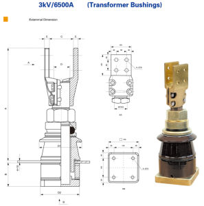 Manufacturer for 3kv 6500A Transformer Bushing pictures & photos