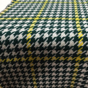 Check Houndstooth Wool Fabric Green & Yellow pictures & photos