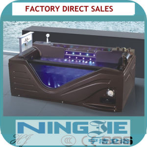 Luxury Coffee Color Bathroom Sanitaryware Whirlpool Acrylic Bath Tub (5208) pictures & photos