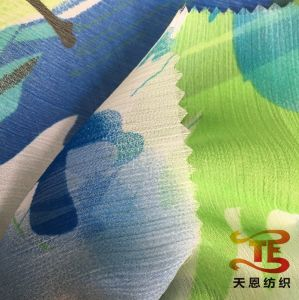 75D 100% Polyester Printing Crepe Chiffon Fabric for Women Dresses pictures & photos