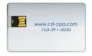 Swivel Metal USB Stick Aluminum Credit Card USB pictures & photos