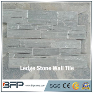 Light Green Staggered Ledge Stone with Ledge Stone Corner for Wall Panel pictures & photos