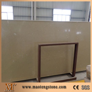 Beige Color Sparkling Artificial Quartz Stone pictures & photos