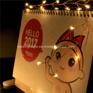 20LED Micro LED Battery Operated Firecracker String Lights Silver Copper Wire pictures & photos