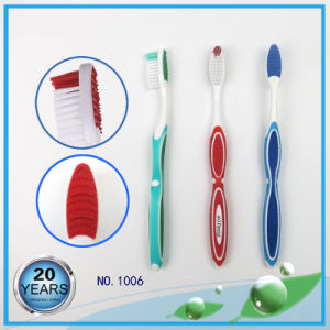 Soft Rubber Handle with Gum Massager Nylon Toothbrush pictures & photos