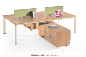 Modern Wood Partition Office Computer Desk, Office Furniture pictures & photos