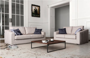 European Designs Soft Leather Chesterfield Sofa Set (FS-038) pictures & photos