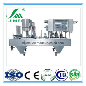 High Quality Stainless Steel Automatic Milk Yogurt Cup Filling and Sealing Machine Price pictures & photos