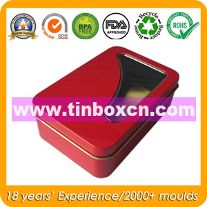 PVC Window Tin Box for Electronics Toy, Gift Tin Container pictures & photos