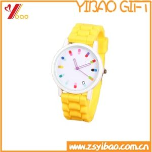 Custom Logo High Quality Soft Silicone Rubber Watch (YB-HR-92) pictures & photos