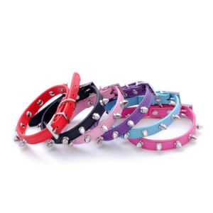 Dog Supplies Plain Personality Bullet Nail Pet Collar pictures & photos