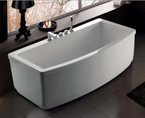 Simple Freestanding Acrylic Bathtub with Cupc pictures & photos
