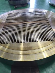 Copper Alloy Explosion Welding/Bonded Metal Clad/Cladding/Cladded Tube Sheets Baffles Support Plates Tube plates Tubesheets pictures & photos