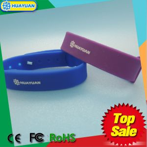 HUAYUAN waterproof Infineon CIPURSE 4Move RFID silicone wristband pictures & photos