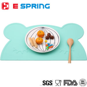 Hot Selling Ins New Children′s Baby Bear Shape Silicone Placemat Heat Resistant Tableware Mat Tableware Decor Set pictures & photos