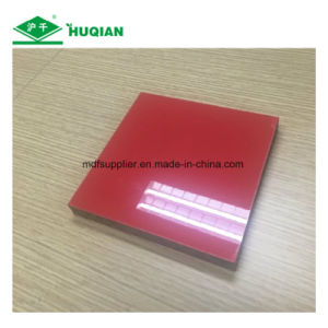 Red Color UV Melamine MDF for Decoration Usage pictures & photos
