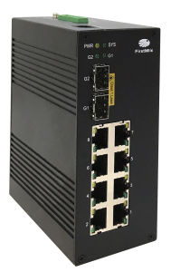 Gigabit Fiber Optical Industrial Ethernet Switch with 802.3at Poe Port pictures & photos
