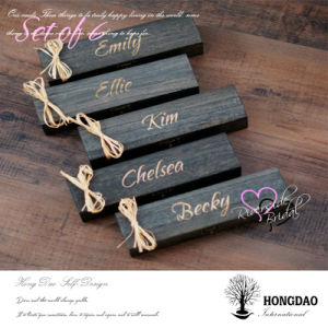 Hongdao Custom Simple Black Wooden Keepsake Box with Custom Name Wholesale_L pictures & photos