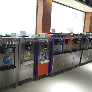 Factory Hot Sale New Full Body Stainless Steel 3 Flavors Ice Cream Machine and Frozen Yogurt Machine with High Quality pictures & photos