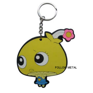 PVC Lovely Rubber Key Chain Plastic Products Gift Decoration