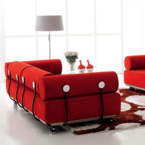 High Quality Living Room Furniture Leisure Rattan Fabric Sofas (F807) pictures & photos