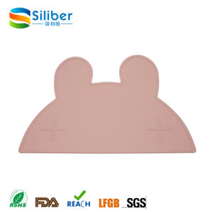 Amazon Best Sellers Non-Toxic One Piece Silicone Baby Placemat for Kids pictures & photos