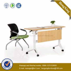 Fashion Wood School Furniture Space Saving Folding Table (HX-5D187) pictures & photos
