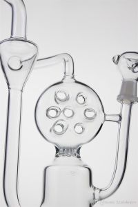 Glass Water Pipe Cookie Circle Perfect Perc and Recycler Oil Rig Glass Water Thick Boro Glass pictures & photos