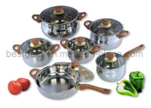 Stainless Steel 12PCS Cooking Pot Kitchenware pictures & photos