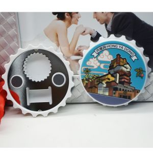 Cap Shaped Fridge Magnet Bottle Opener pictures & photos