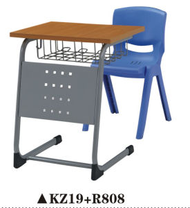Functional Plastic School Furniture Desk and Chair Set pictures & photos
