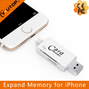 Microsd+SD OTG Card Reader USB Flash Memory for iPhone Android (YT-R007) pictures & photos