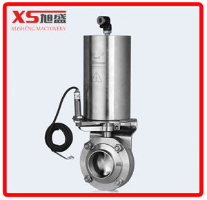 """2.5"""" Stainless Steel Ss304 Triclover Pneumatic Actuator Butterfly Valve pictures & photos"""