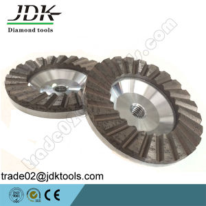 Diamond Aluminum Body Ripple Cup Wheel for Granite Grinding pictures & photos