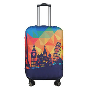 Customized Printed Luggage Bag Cover Spandex Travel Suitcase Protective Cover pictures & photos