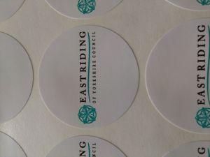 Sceen Printing Round PVC Sticker Vinyl Sticker pictures & photos