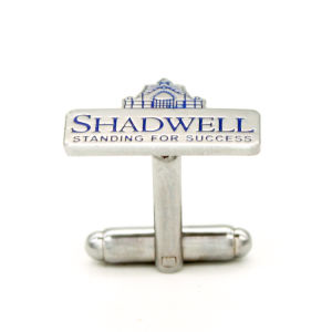 Supply Printed Metal Silver Cufflink Factory pictures & photos