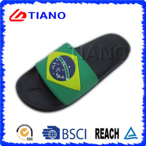 Fashion Design with Rubber Patch Indoor Slipper for Man (TNK35769) pictures & photos
