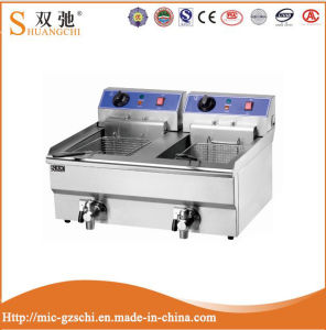 2-Tank 2-Basket Electric Deep Fryer for Sale pictures & photos