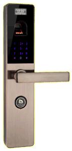 Zinc Alloy Smart Fingerprint Door Lock with Password/Key pictures & photos